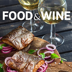 food and wine advertising