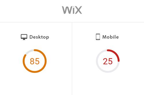 website speed on wix