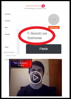 video testimonial bundle signup