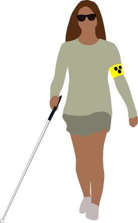 visually impaired woman