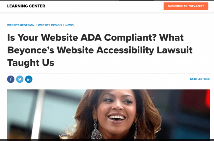 website accessibility beyonce