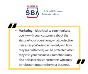 SBA covid-19 marketing