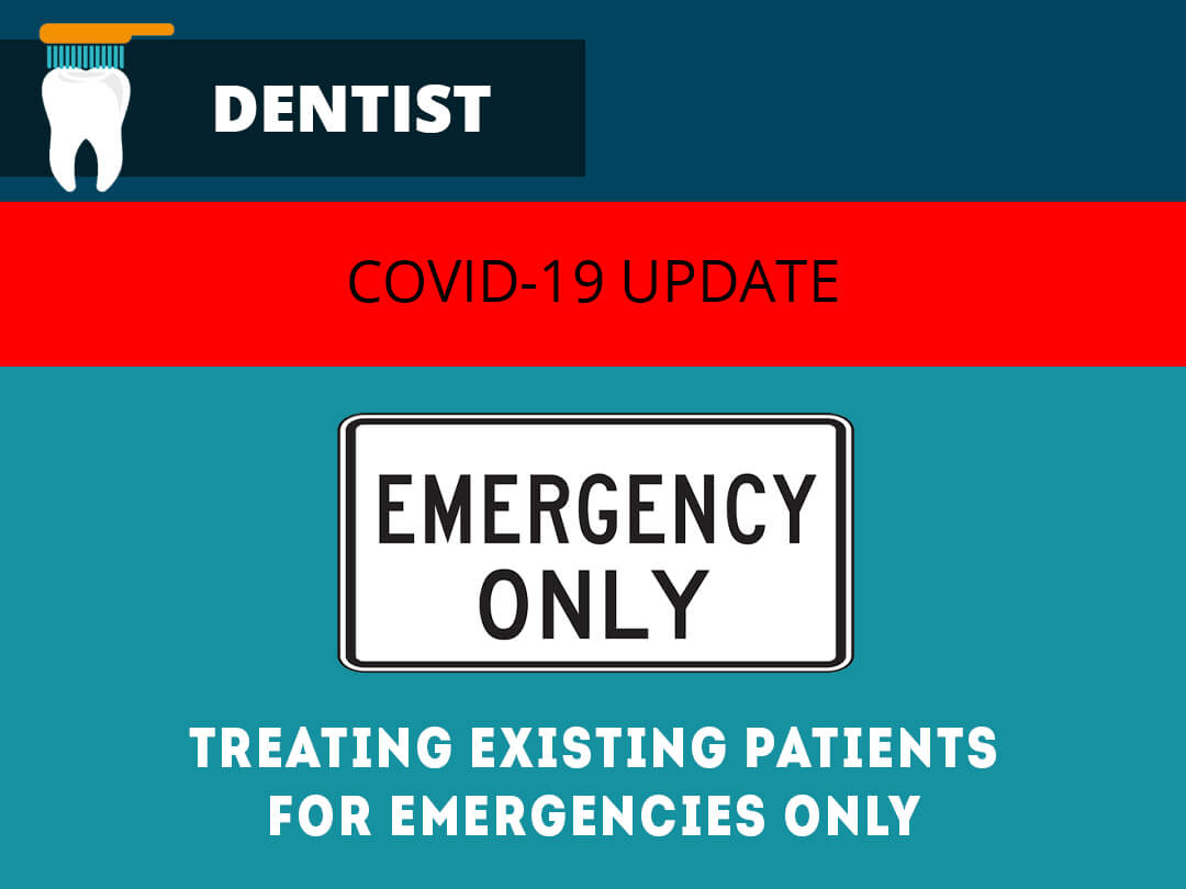 dental practice treating patient emergency gmb image
